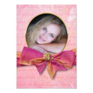 Sweet 16 Birthday Party Invitation/ photo Insert Card