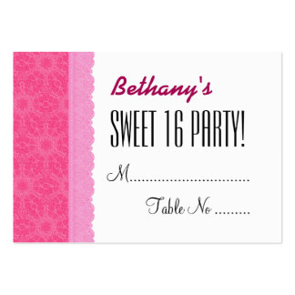 SWEET 16 BIRTHDAY PARTY Pink Table Cards V03D Pack Of Chubby Business Cards
