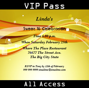 vip pass invitations announcements zazzle uk
