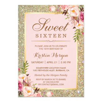 Sweet 16 Invitations & Announcements | Zazzle.co.uk