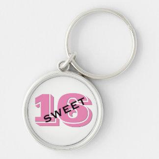 Sweet 16 Birthday Pink Sweet Sixteen Key Ring