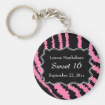 Sweet 16 Black and Pink Zebra Pattern
