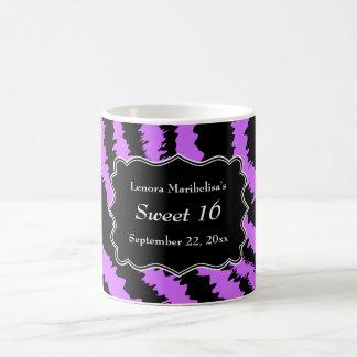 Sweet 16 Black and Purple Zebra Pattern Coffee Mug