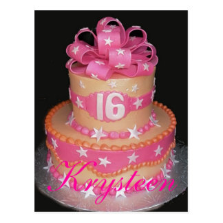 Sweet 16 Cake Picture Card Postcard