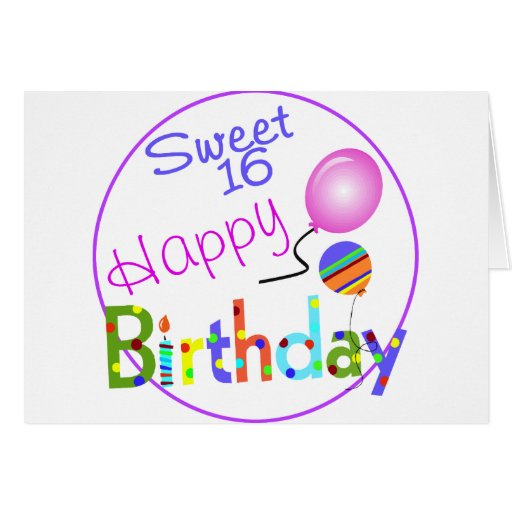 Sweet 16 greeting cards