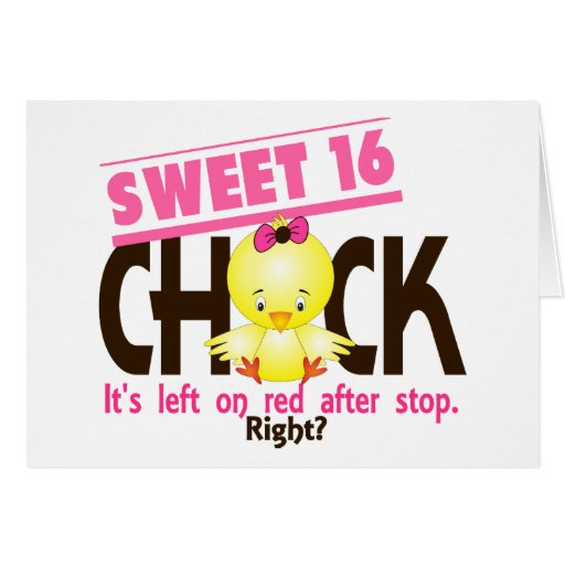 Sweet 16 Chick 2 Cards