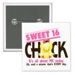 Sweet 16 Chick 3 15 Cm Square Badge