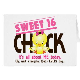 Sweet 16 Chick 3 Card