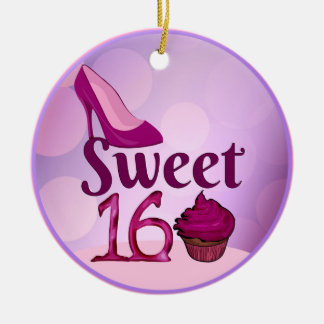 Sweet 16 christmas ornament
