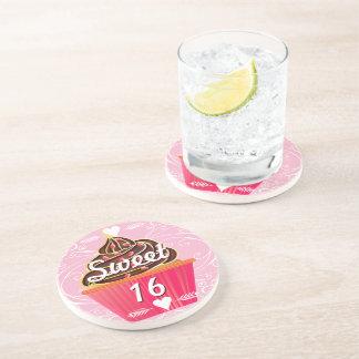 Sweet 16 Cupcake Coasters