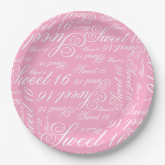 Sweet 16 Custom Color Paper Plate