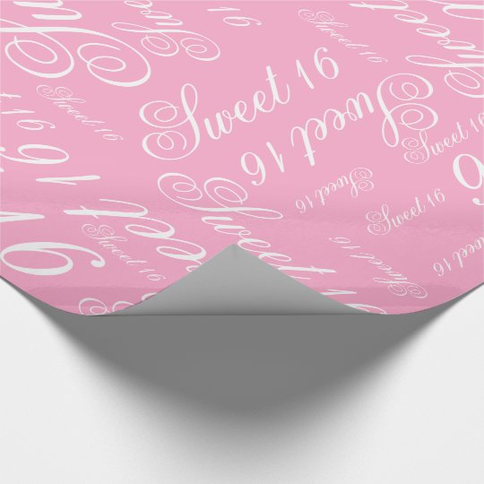 Sweet 16 Custom Colour Wrapping Paper