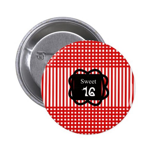 Sweet 16_cute_birthday_design pinback buttons