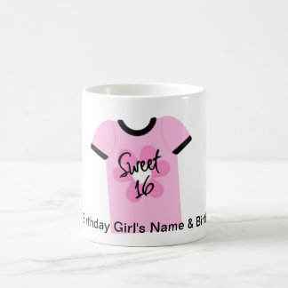 Sweet 16 Flower Power Favors,Gifts,Invites Classic White Coffee Mug