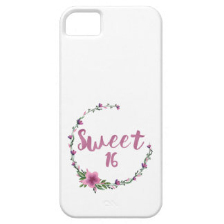 Sweet 16 Flowers Barely There iPhone 5 Case