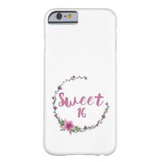 Sweet 16 Flowers Barely There iPhone 6 Case
