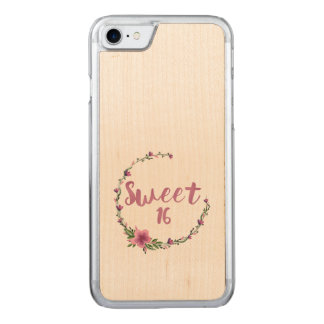 Sweet 16 Flowers Carved iPhone 7 Case