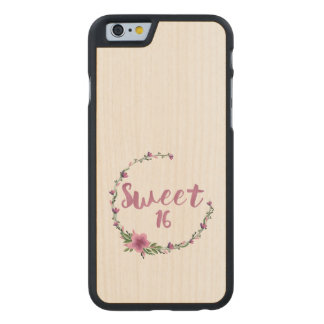 Sweet 16 Flowers Carved® Maple iPhone 6 Slim Case