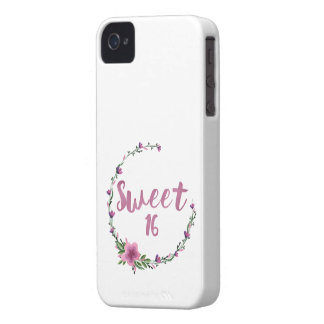 Sweet 16 Flowers iPhone 4 Case-Mate Cases