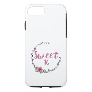 Sweet 16 Flowers iPhone 7 Case