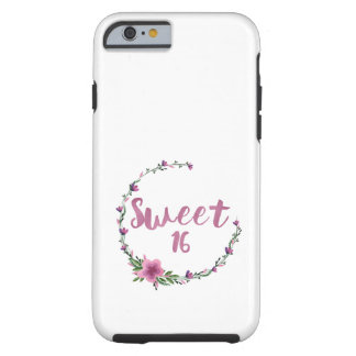 Sweet 16 Flowers Tough iPhone 6 Case