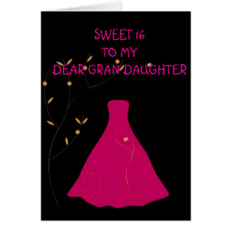 Sweet 16 Grandaughter Card