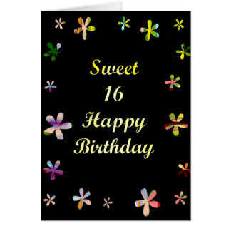 Sweet 16 Happy Birthday Card