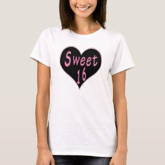 Sweet 16 Heart Pink/Black T-Shirt