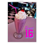 Sweet 16 Milkshake card