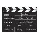 Sweet 16 movie clapboard 13 cm x 18 cm invitation card