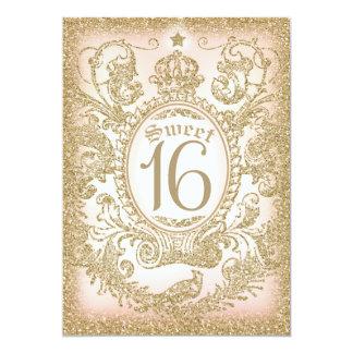 Sweet 16 Once Upon a Time Princess Sea Foam 13 Cm X 18 Cm Invitation Card