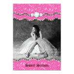 Sweet 16 Party Invite Leopard Jewellery Pink