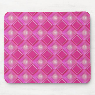 Sweet 16, Pink Diamonds Number Mouse Pad