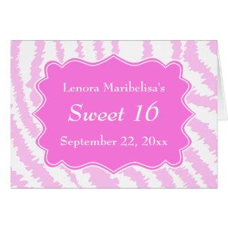 Sweet 16 Pink Zebra Print Pattern Card