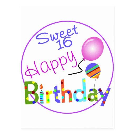 Sweet 16 post card