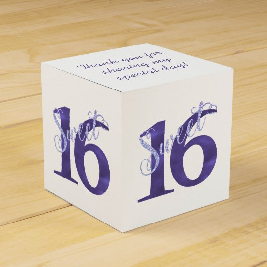Sweet 16 Purple | Watercolor 16th Birthday Party Favour Box