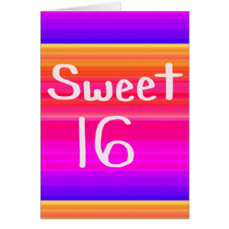 Sweet 16 Rainbow Card