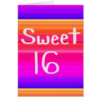 Sweet 16 Rainbow Greeting Card