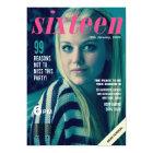 Sweet 16 Sixteen Magazine Cover Photo Invite