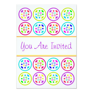 Sweet 16 Sixteen Party tropical colors bright Personalized Invitation