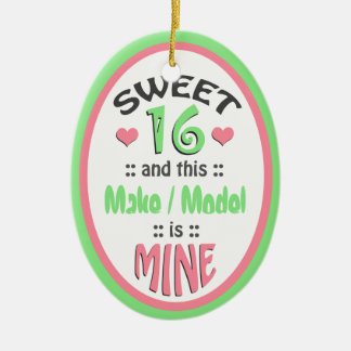 Sweet 16 - This Vehicle is Mine - Ceramic Ornament