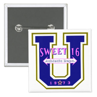 Sweet 16 University Athletic Department Buttons