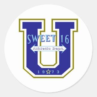 Sweet 16 University Athletic Department Classic Round Sticker