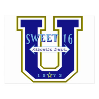Sweet 16 University Athletic Department Postcard