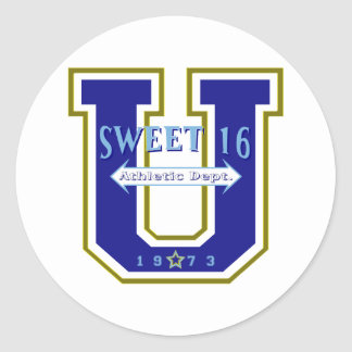 Sweet 16 University Athletic Department Round Sticker