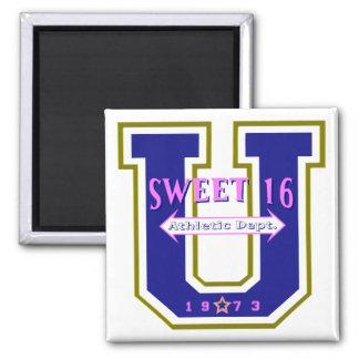 Sweet 16 University Athletic Department Square Magnet