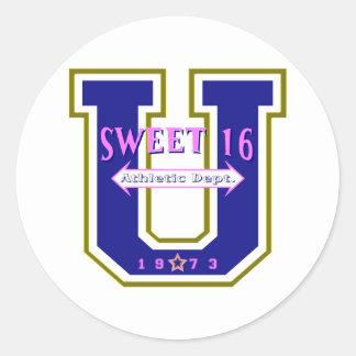 Sweet 16 University Athletic Department Round Sticker