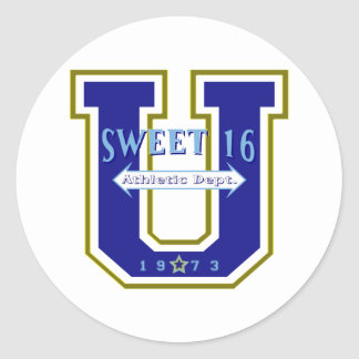Sweet 16 University Athletic Department Stickers