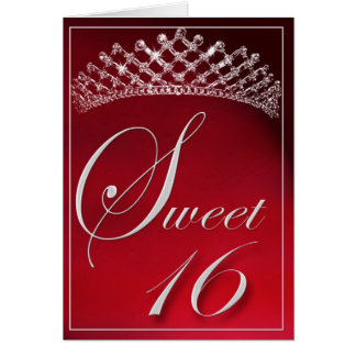 Sweet 16 with a tiara! greeting card