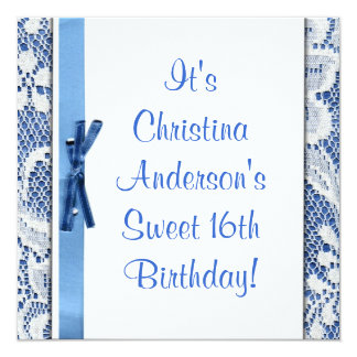 Sweet 16th Birthday Cute Party Invitation